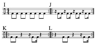 Paradiddles and 16th-Note Subdivisions 5