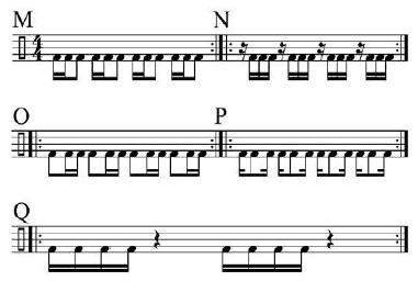 Paradiddles and 16th-Note Subdivisions 6