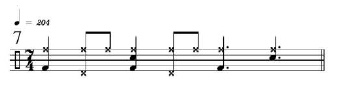 Rhythmic Transition Examples 7