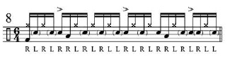 Broken doubles and Paradiddles 9