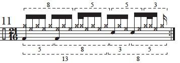 """Golden Measures"" and Fibonacci Rhythms 13"