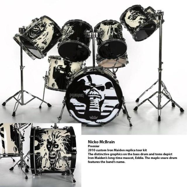 Nicko McBrain kit
