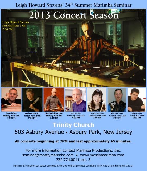 Leigh Howard Stevens' 34th Summer Marimba Seminar Concerts