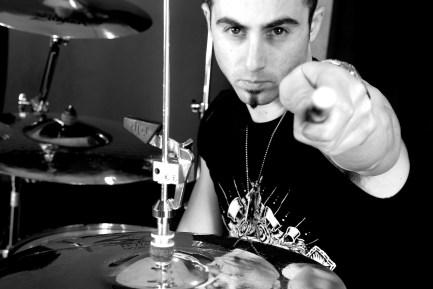 Drummer Michael Vafiotis