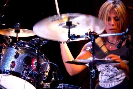 Drummer Dena Tauriello of Antigone Rising