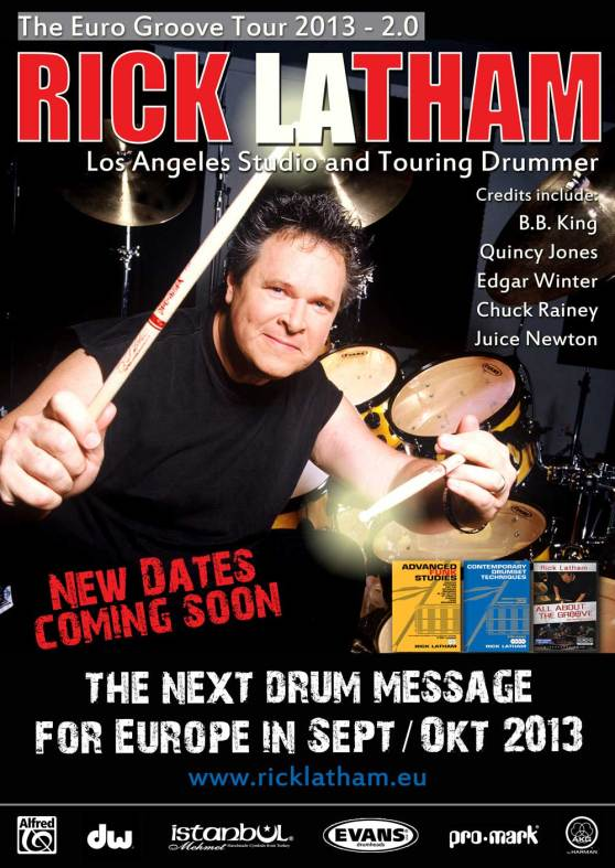 Rick Latham Euro Tour 2013 2.0 Dates Sept-Oct
