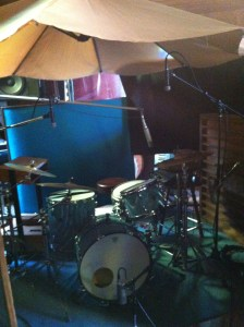 Recording drums with Neneh Cherry