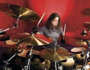 Paul Bostaph at the drumkit