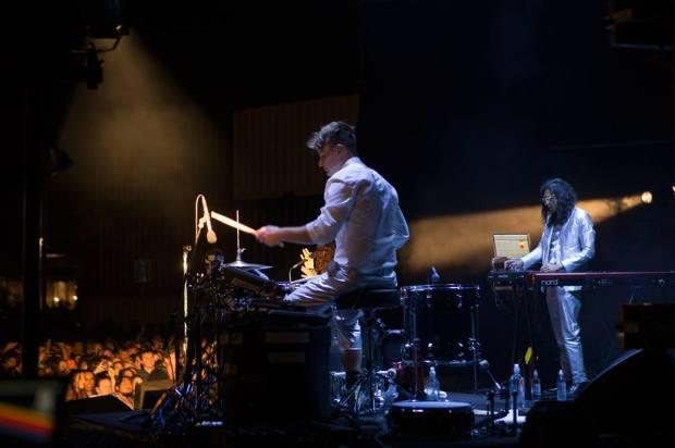 Drummer Ben Barter of Lorde