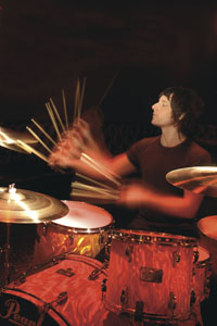 drummer Brian Young of Founatins Of Wayne