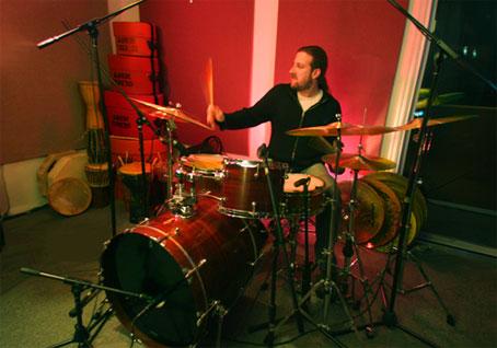 Drummer Aaron Comess