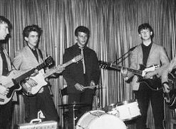 Drummer Pete Best with The Beatles