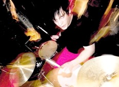 drummer Chachi Darin of the A.K.A.s
