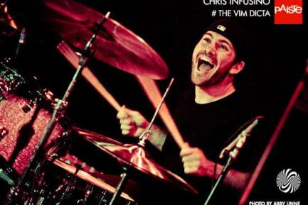 Drummer Chris Infusino of the Vim Dicta