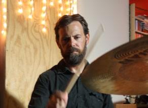 Drummer Chris Prescott of Pinback