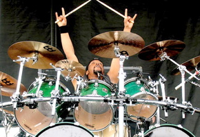 Drummer Corey Pierce of God Forbid