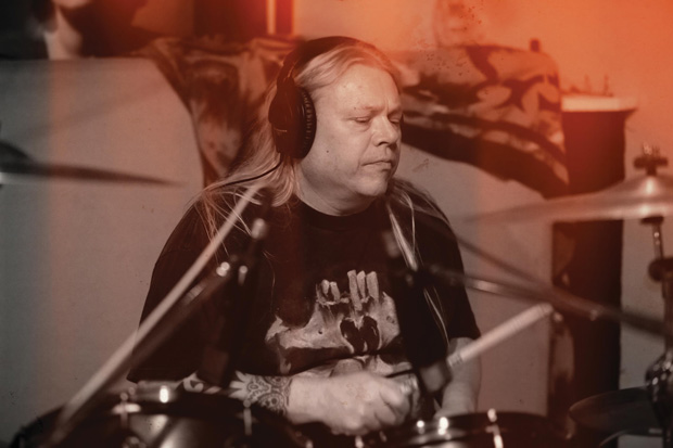 Drummer Dave Ketchum of Coney Hatch