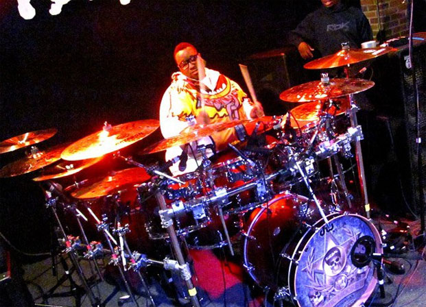 Eric Moore of Suicidal Tendencies and T.R.A.M. at the kit
