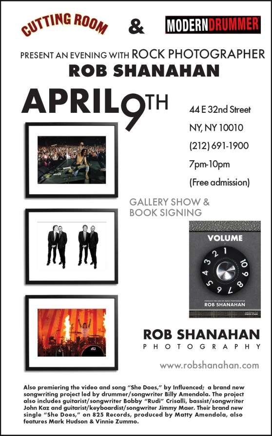 Rock Photographer Rob Shanahan Book Signing