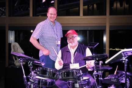 MD Columnist John Emrich Assists Peter Erskine With Multimedia Performance for KIN