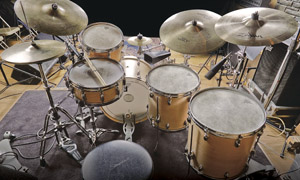 Levon Helm's drum kit