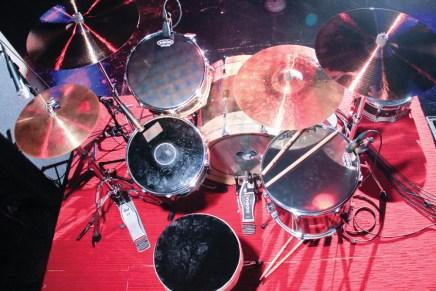 Drummer Marky Ramone's Drum setup
