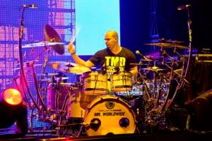 Drummer Omar Tavarez at his kit