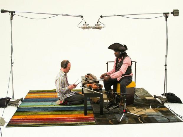 """Flecktones Drummer Roy """"Futureman"""" Wooten Chats With Fiddle/Sticks Creator Casey Driessen"""