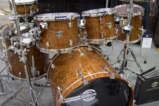 Dixon Bubinga Drum Kit PASIC 2013