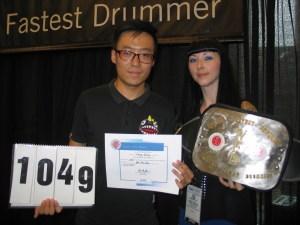 Peng Wang - World's Fastest Drummer Contest