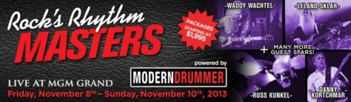 "Modern Drummer and Rock 'n' Roll Fantasy Camp to Host ""Rock's Rhythm Masters"" Camp November 8–10 in Las Vegas"