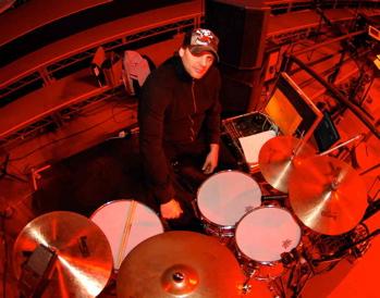 drummer Randy Cooke at his kit