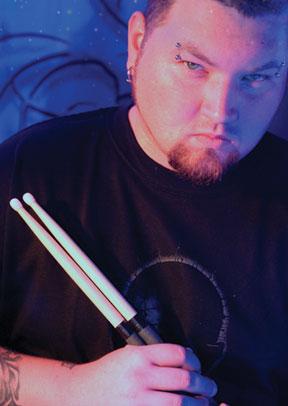 Drummer Rocky Gray of Evanescence