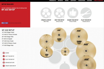 Sabian Relauches Set-Up Builder at Cymbalsetup.com