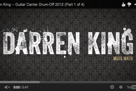 Darren King of Mutemath at Guitar Center's 2012 Drum-Off