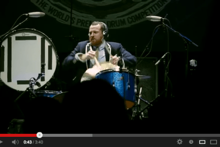 Darren King of Mutemath at Guitar Center's 2012 Drum-Off Grand Finals (Part 2)