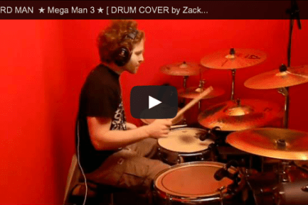 "Zach B.'s Drum Cover of ""The Hard Man Theme"" from Mega Man 3"