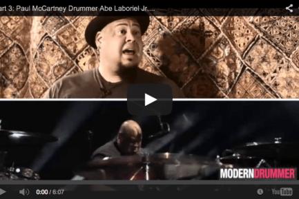 VIDEO - Part 3: Paul McCartney Drummer Abe Laboriel Jr. Interview