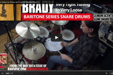 VIDEO! Product Close-Up: Brady Baritone Series Snares (From the May 2014 Issue)
