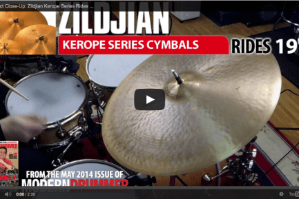 VIDEO! Product Close-Up: Zildjian Kerope Series Cymbals (From the May 2014 Issue)