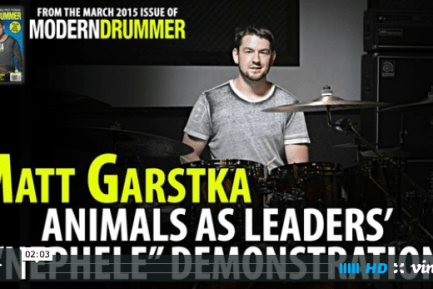 "Video: Matt Garstka Demonstrates Animals as Leaders' ""Nephele"""