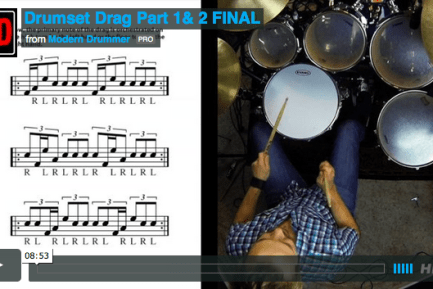 VIDEO LESSON! The Drumset Drag: Orchestration Options for Powerful and Melodic Textures
