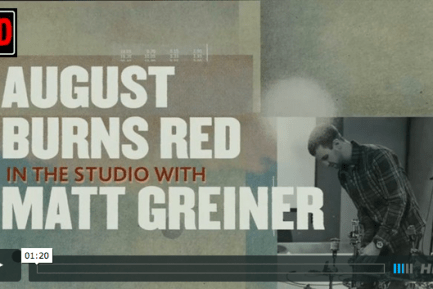 Drummer Blog: August Burns Red's Matt Greiner Shares Studio Sneak Peak of Upcoming Album, Found in Far Away Places