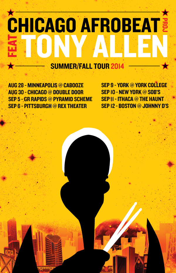 Afrobeat Master Tony Allen on Tour in the United States