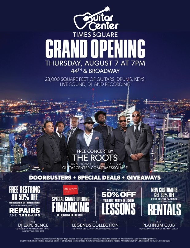 Guitar Center Times Square Grand Opening