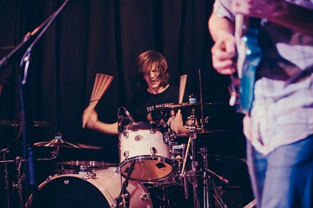 Drummer John Clardy of Tera Melos