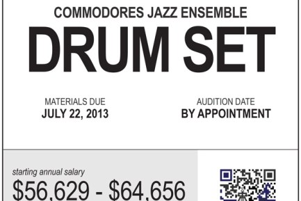 US Navy Band Commodores Jazz Ensemble Seeking Drummer