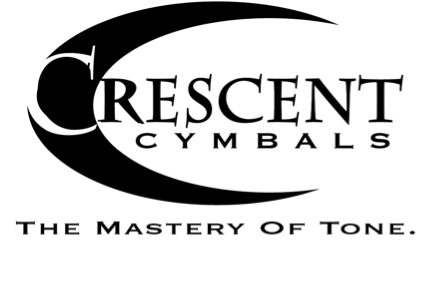 Crescent cymbals made by Sabian in America