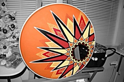 Acrylic Customz creates custom bass drum heads of any size!