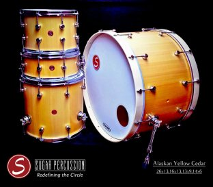 Sugar Percussion's Stave-Built Custom Drums